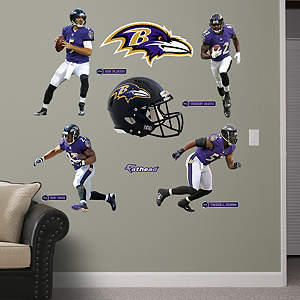 Baltimore Ravens Power Pack Fathead Wall Decal